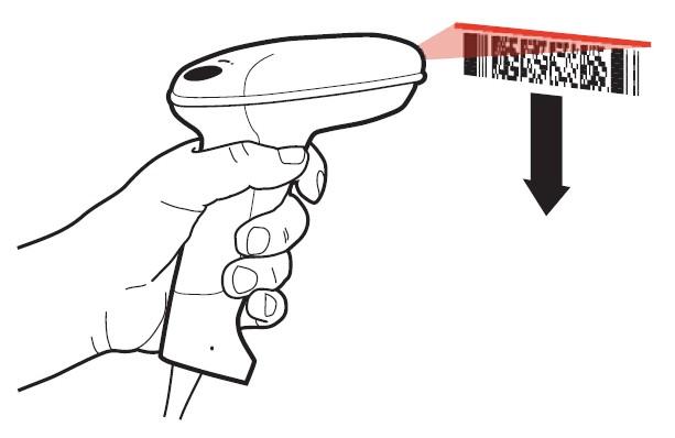 霍尼韦尔3800g条码扫描枪读取条码