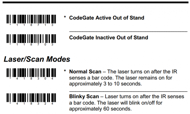 霍尼韦尔MS5145|MS9540条码扫描枪设置自动扫描