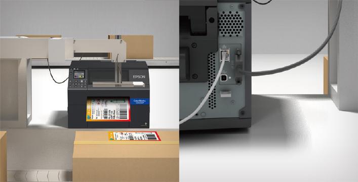创新剥离器设计:灵活适用于自动化流水线作业 - Epson CW-C6530P产品功能